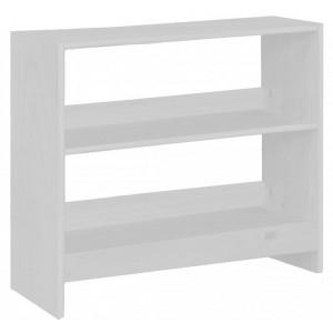 Mid Sleeper Whitewash Bookcase