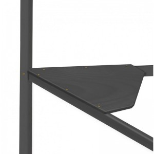 Corner Graphite Desk Top