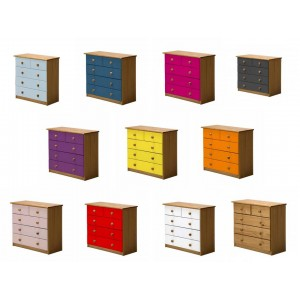 Verona 3+2 Drawer Antique Pine Chest with various colours *Out of Stock - Back March 2017*