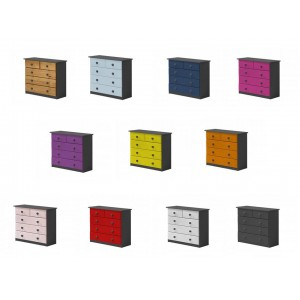 Verona 3+2 Drawer Graphite Chest with various colours