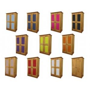 Verona 2 Door Antique Pine Tallboy with various colours