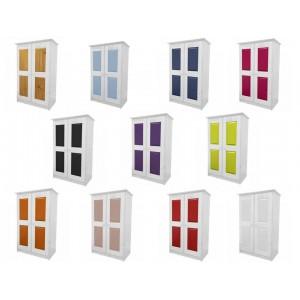 Verona 2 Door Whitewash Tallboy with various colours