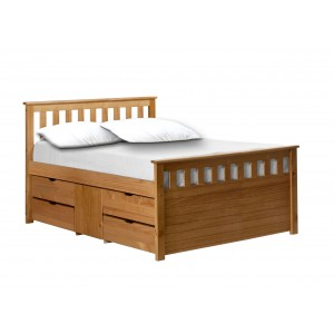 Ferrara Antique Pine Storage Bed *Out of Stock - Back March 2017*