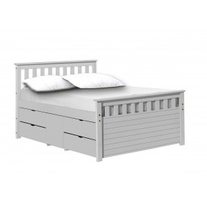 Ferrara Whitewash Storage Bed *Out of Stock - Back March 2017*