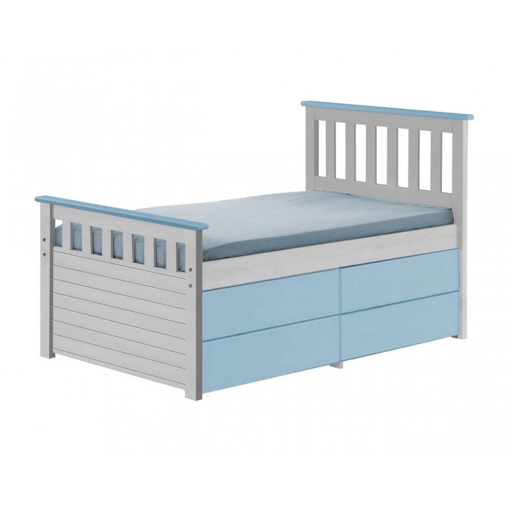 ferrara captain storage whitewash shorty bed with various colours out of stock back march