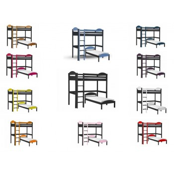 Maximus L-Shape High Sleeper Graphite Frame with various Colours