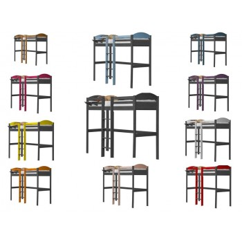 Maximus Central High Sleeper Graphite Frame with various Colours