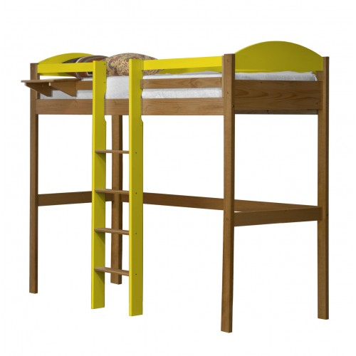Maximus Central High Sleeper Antique Pine Frame with various Colours