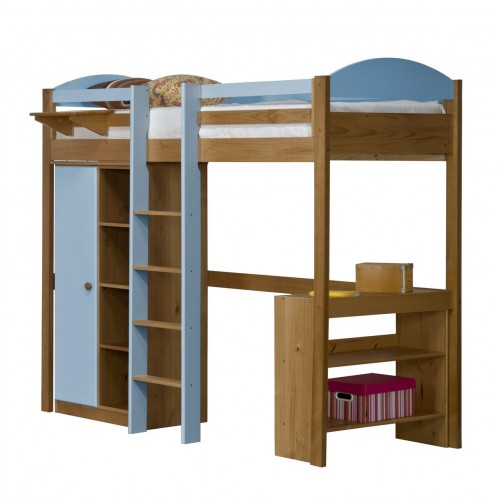 Maximus Central High Sleeper Antique Pine {Bed Set 1} with various Colours *Out of Stock - Back Soon*