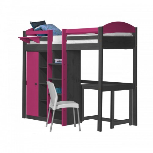 Maximus Central High Sleeper Graphite {Bed Set 2} with various Colours *Out of Stock - Back Soon*