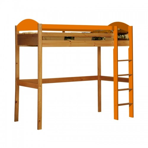 Maximus High Sleeper Antique Pine Frame with various Colours