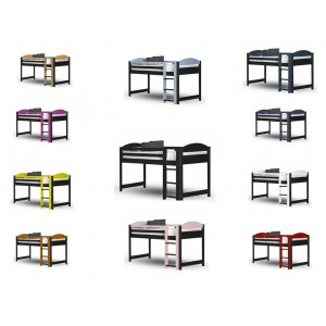 Maximus Mid-Sleeper Graphite Frame with various colours