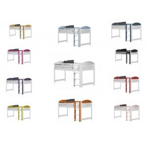 Maximus Mid-Sleeper Whitewash Frame with various colours