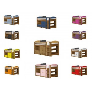 Maximus Mid-Sleeper Antique Pine {Bed Set 2} with various colours