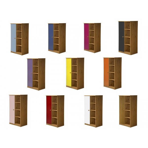 Avola 1 Door Antiquie Pine Storage Unit with various colours