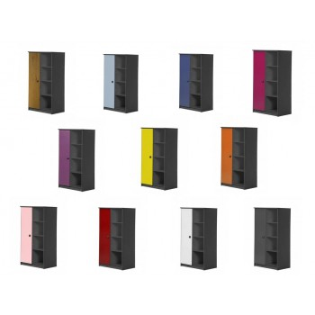 Avola 1 Door Graphite Storage Uni with various colours