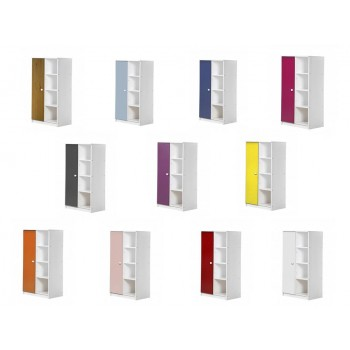 Avola 1 Door Whitewash Storage Unit with various colours