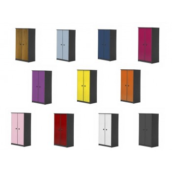 Avola 2 Door Graphite Storage Unit with various colours