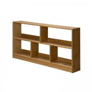 Bari Antique Pine Open Shelf Unit