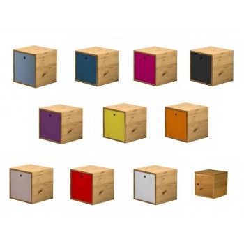 Cube + Lid Antique Pine Box with various colours