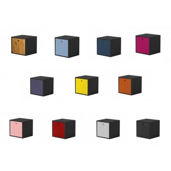 Cube + Lid Graphite Box with various colours