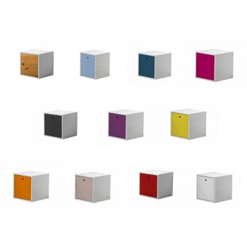 Cube + Lid Whitewash Box with various colours