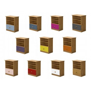 Gela Antique Pine Storage Unit with various colours
