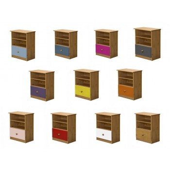 Gela Antique Pine Storage Unit with various colours