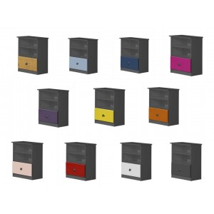 Gela Graphite Storage Unit with various colours