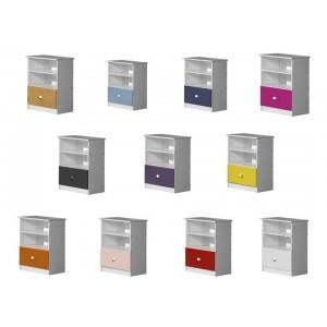 Gela Whitewash Storage Unit with various colours