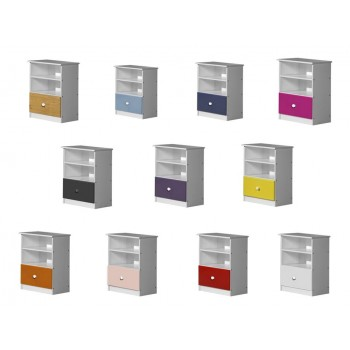 Gela Whitewash Storage Unit with various colours